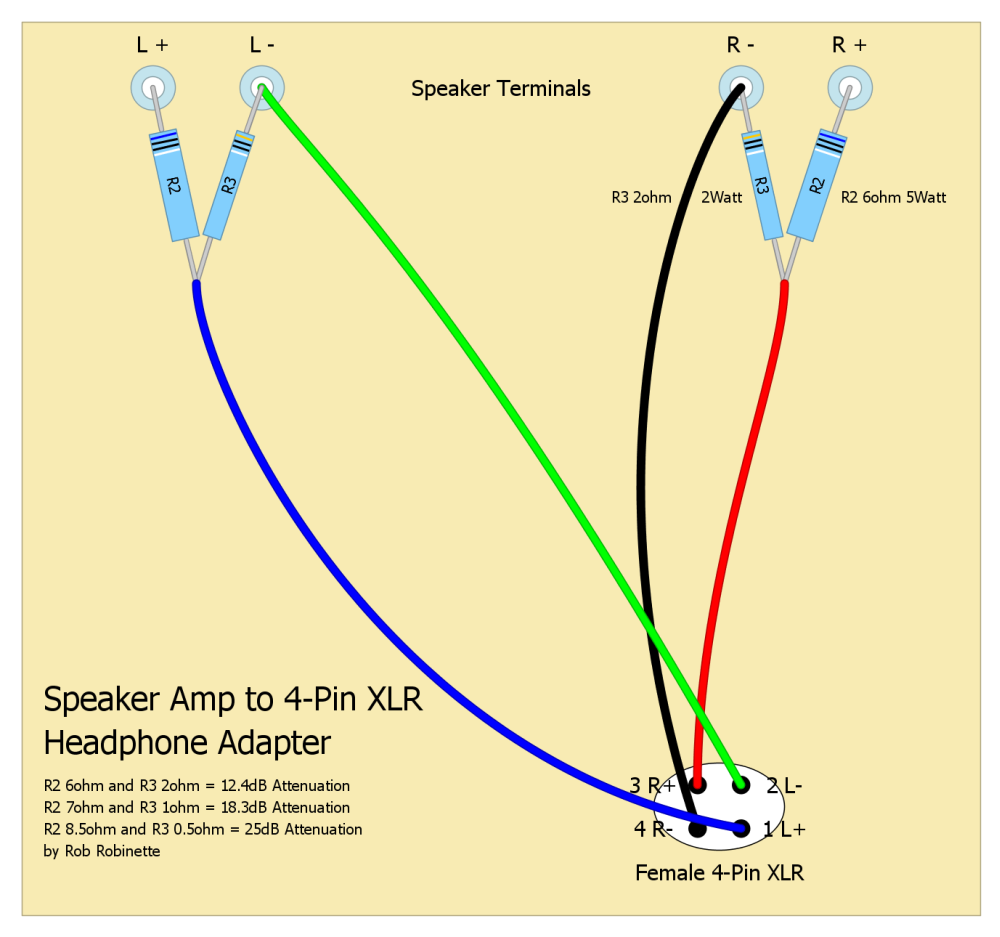 Speaker_to_Headphone_Attenuator_XLR robinettebox Home Speaker System Wiring Diagram at cos-gaming.co