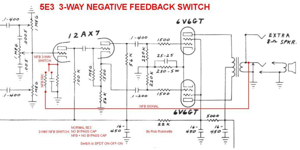 5E3 Mods Fender E Schematic on