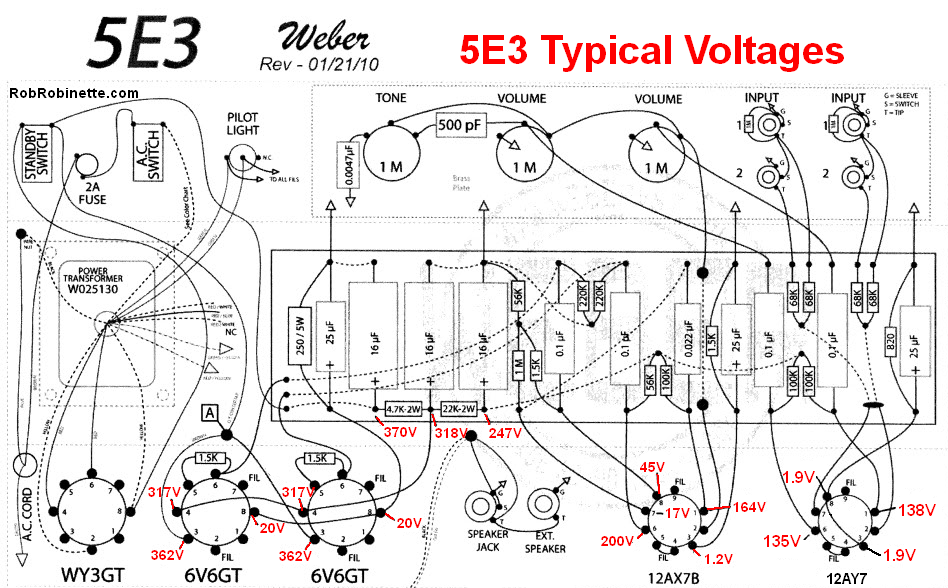 How the 5E3 Works  E Schematic on 5f1 schematic, fender m 80 schematic, fender excelsior schematic, 5c1 schematic, guitar amp circuit board schematic, princeton reverb schematic, deluxe 6g3 schematic, vox ac15 schematic, cry baby foot pedal schematic, fender deluxe schematic, 100 watt marshall schematic, boss ce 5 schematic, supro schematic, klon schematic, silver tone 1472 amp schematic,
