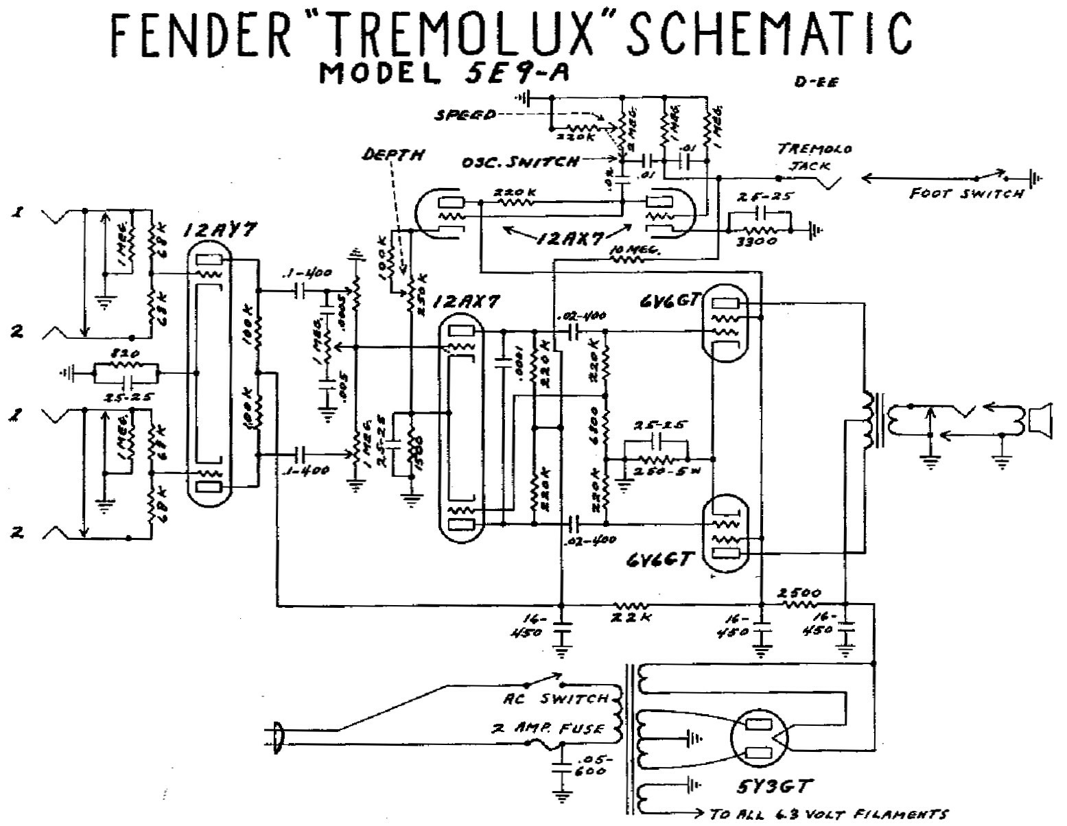 Add Reverb Tremolo Circuit Compact Mixer Audio Volume Pan Amplifier Tube For Cathode Biased Amps