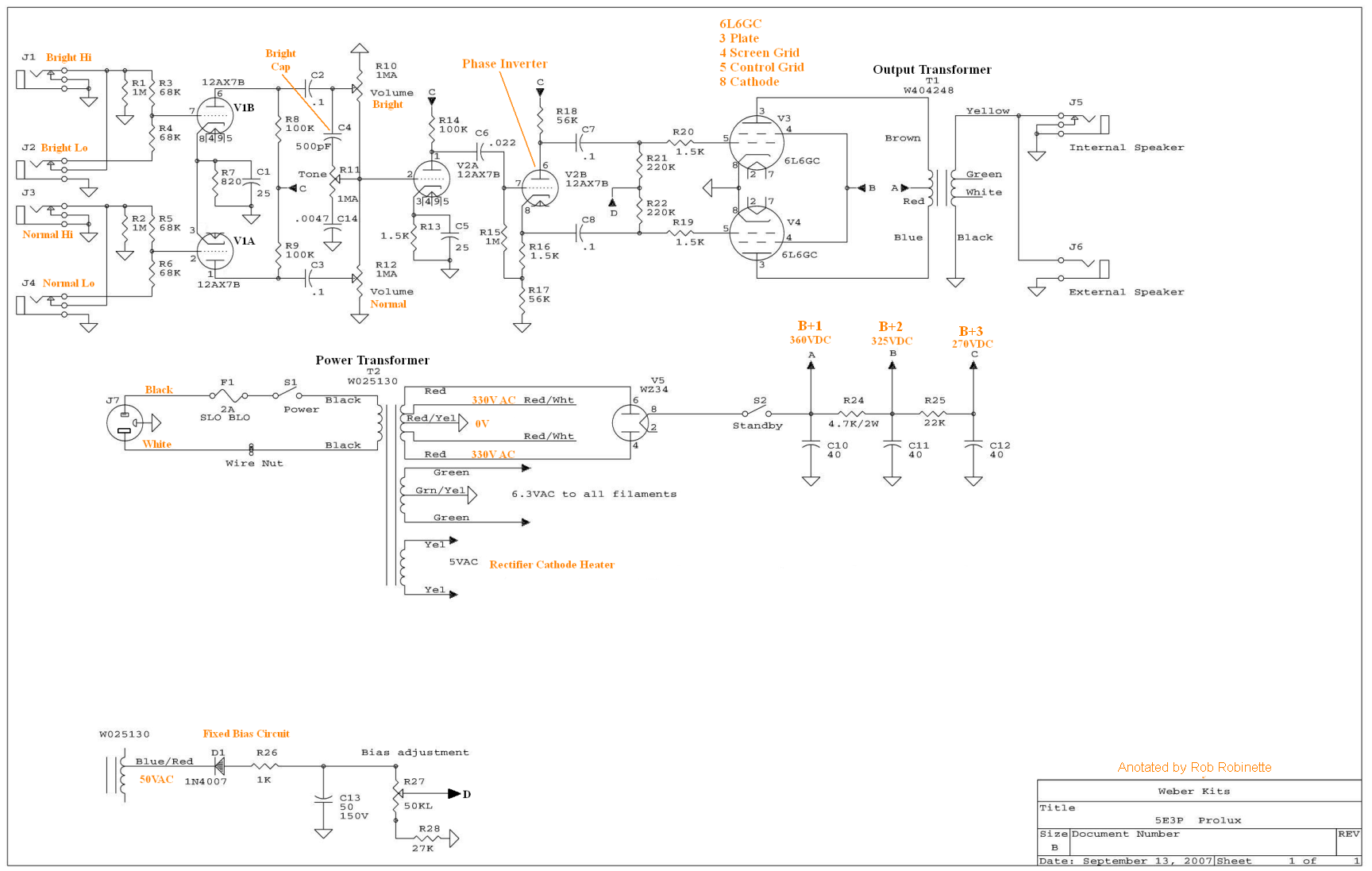 Amp Build Weber Wiring Diagrams 5e3p Proluxe Schematic