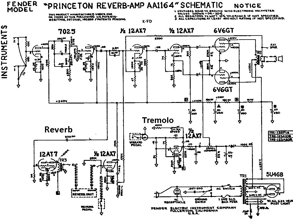 pact Reverb on diagram for guitar tube schematic