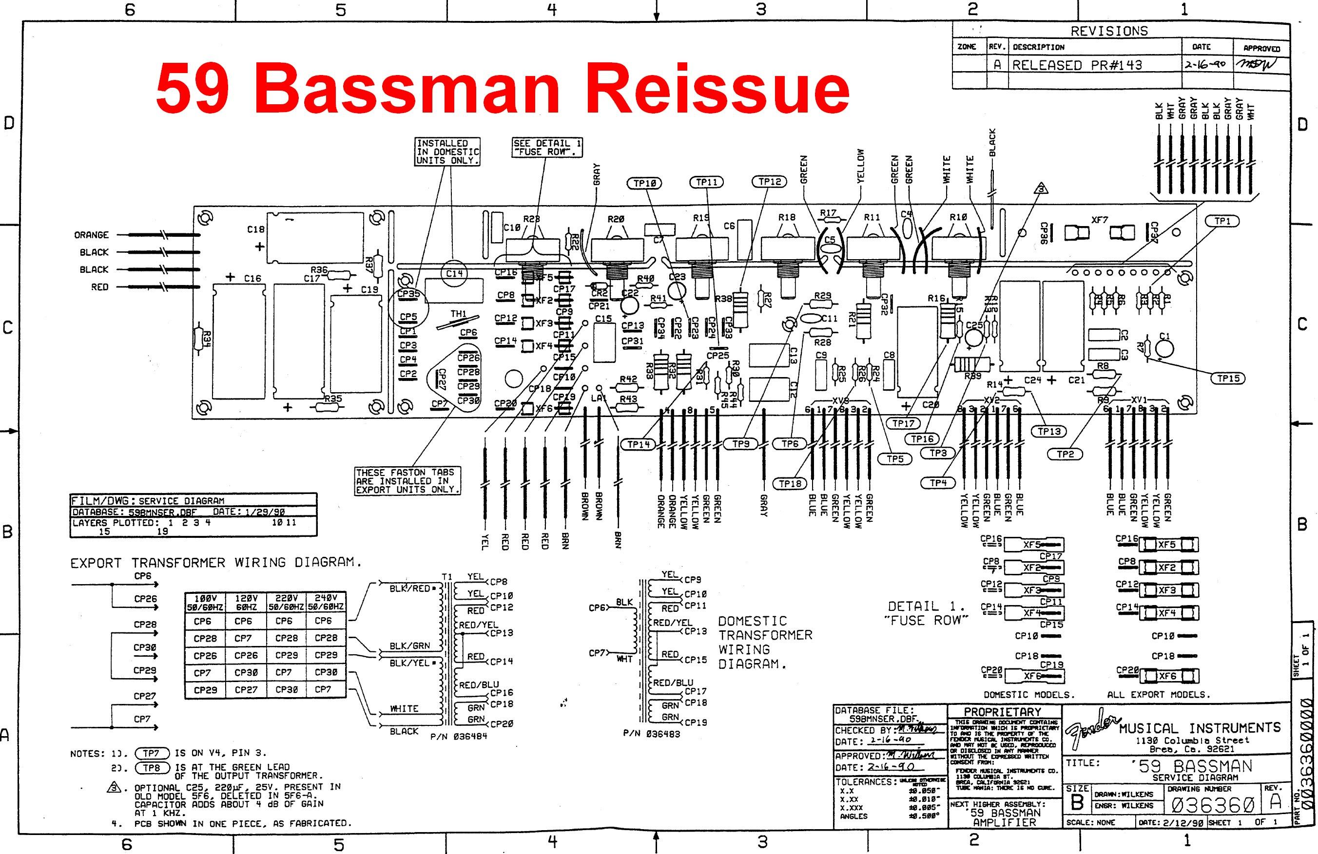5f6a Mods Amp Repair Schematics Fender Bassman Ab165 Schematic