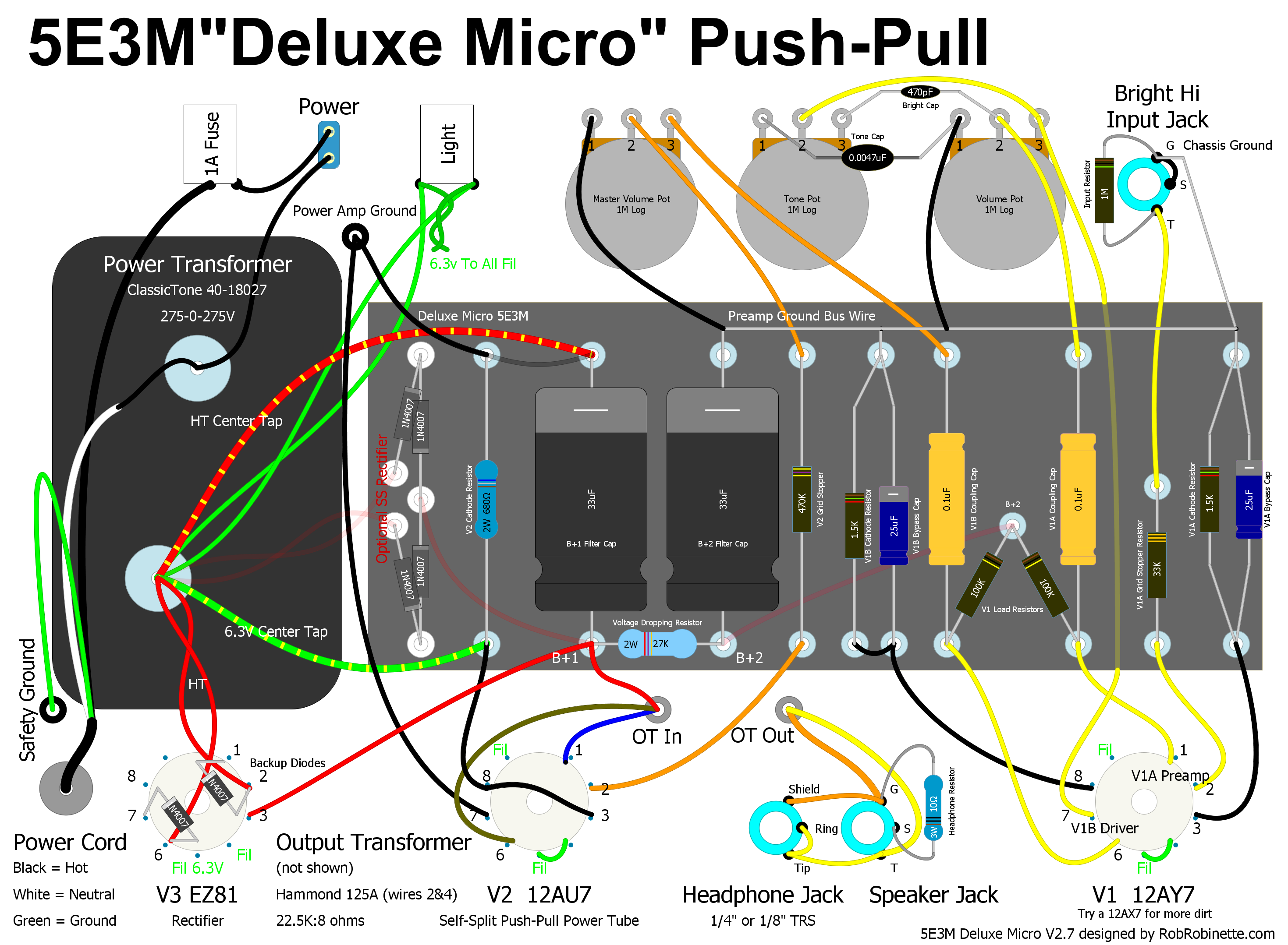 Hammond Transformer Wiring Diagram 34 Images Yokoyama Control Deluxe Micro Push Pull At