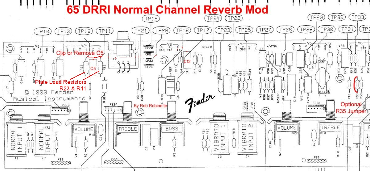 65_Deluxe_Reverb_Reissue_Normal_Channel_Reverb_Mod ab763 mods Fender Deluxe Reverb at bakdesigns.co