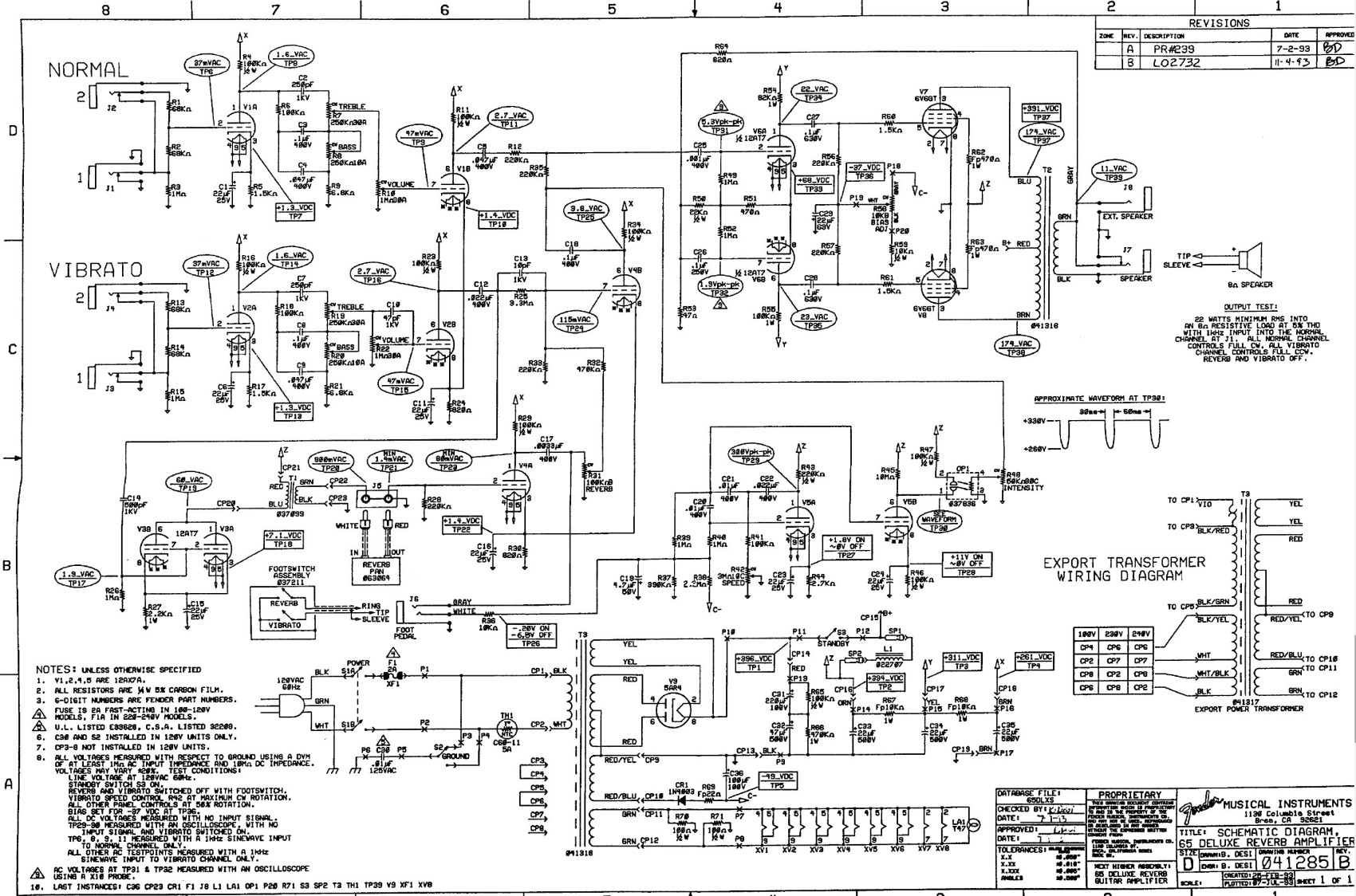 65_Deluxe_Reverb_Reissue_Schematic ab763 mods Fender Concert Amp History at alyssarenee.co