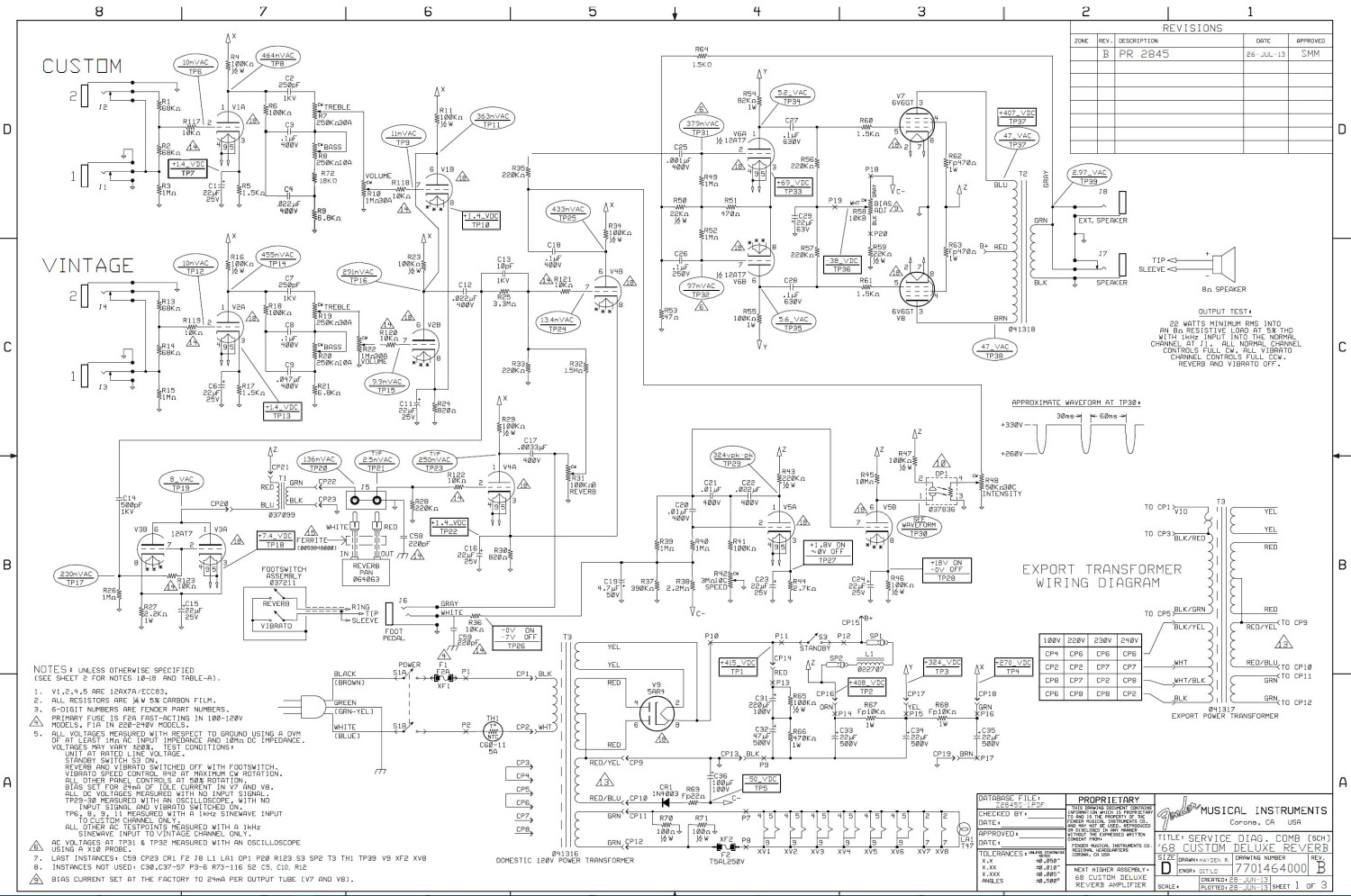 68_Custom_Deluxe_Reverb_Schematic ab763 mods Fender Concert Amp History at alyssarenee.co