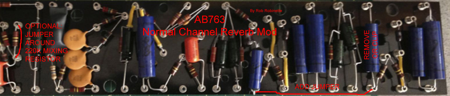 AB763_Circuit_Board_Normal_Channel_Reverb_Mod silverface mods Fender Deluxe Reverb at crackthecode.co
