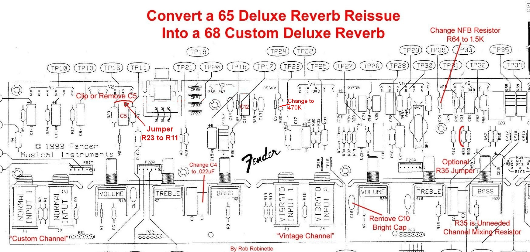 Fender Deluxe Reverb Schematic on tube guitar pedal schematic