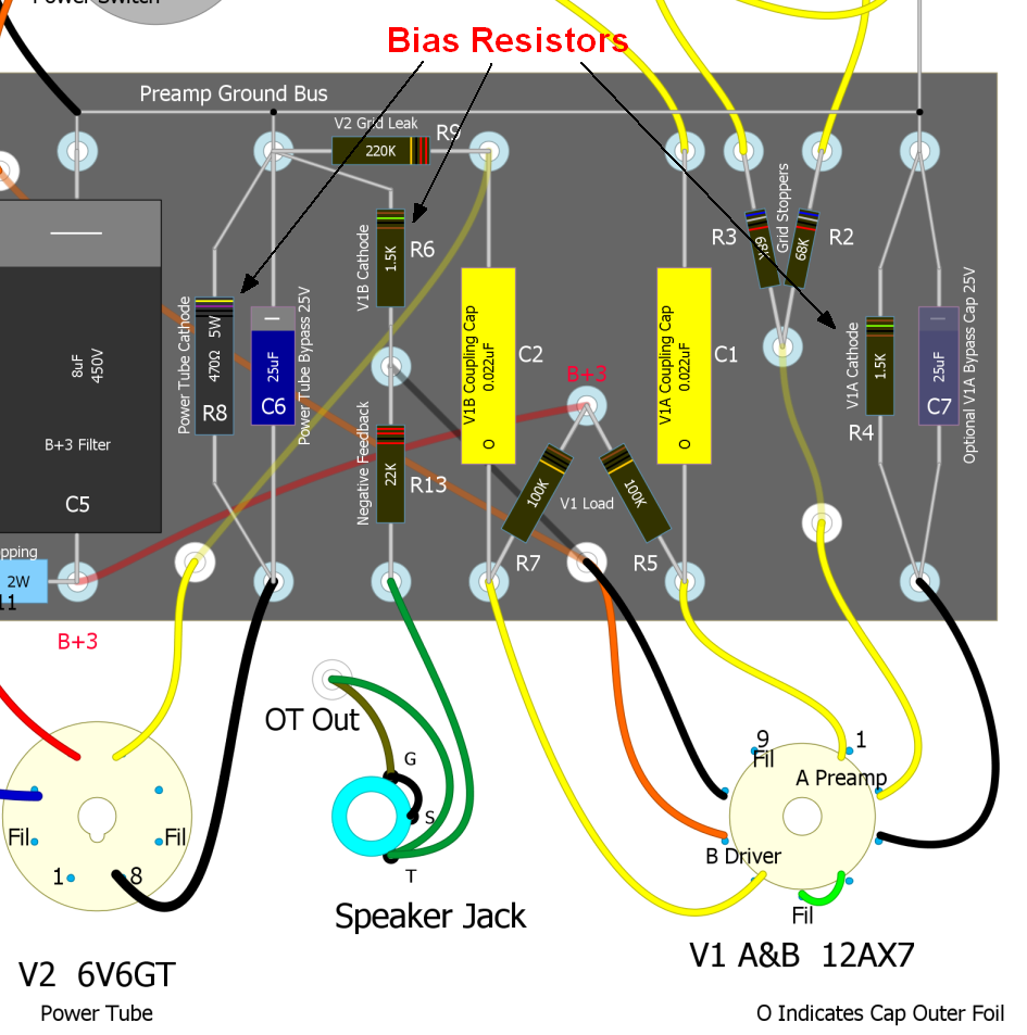 How Amps Work  F Schematic on