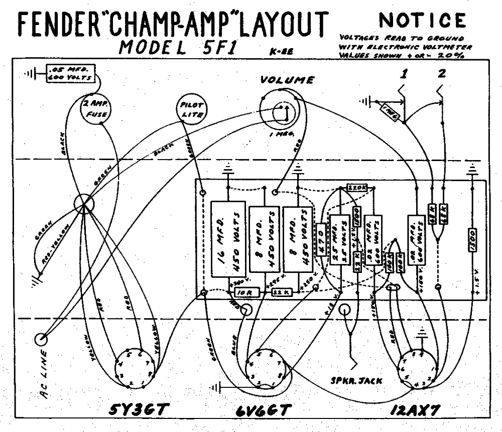 5F1_Layout_Fender how amps work,Tone Pot Capacitor Wiring Diagram