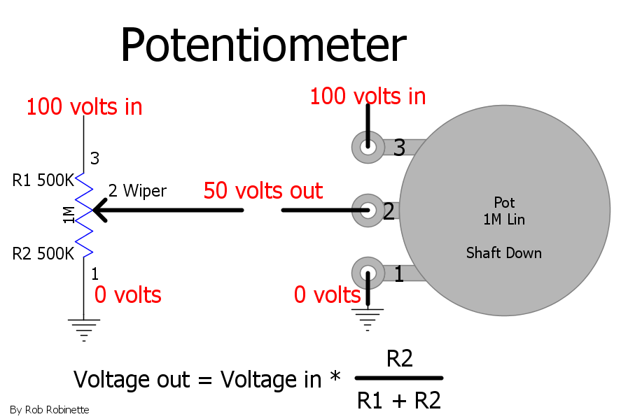 how amps work rh robrobinette com Encoder Digital Potentiometer Potentiometer Circuit