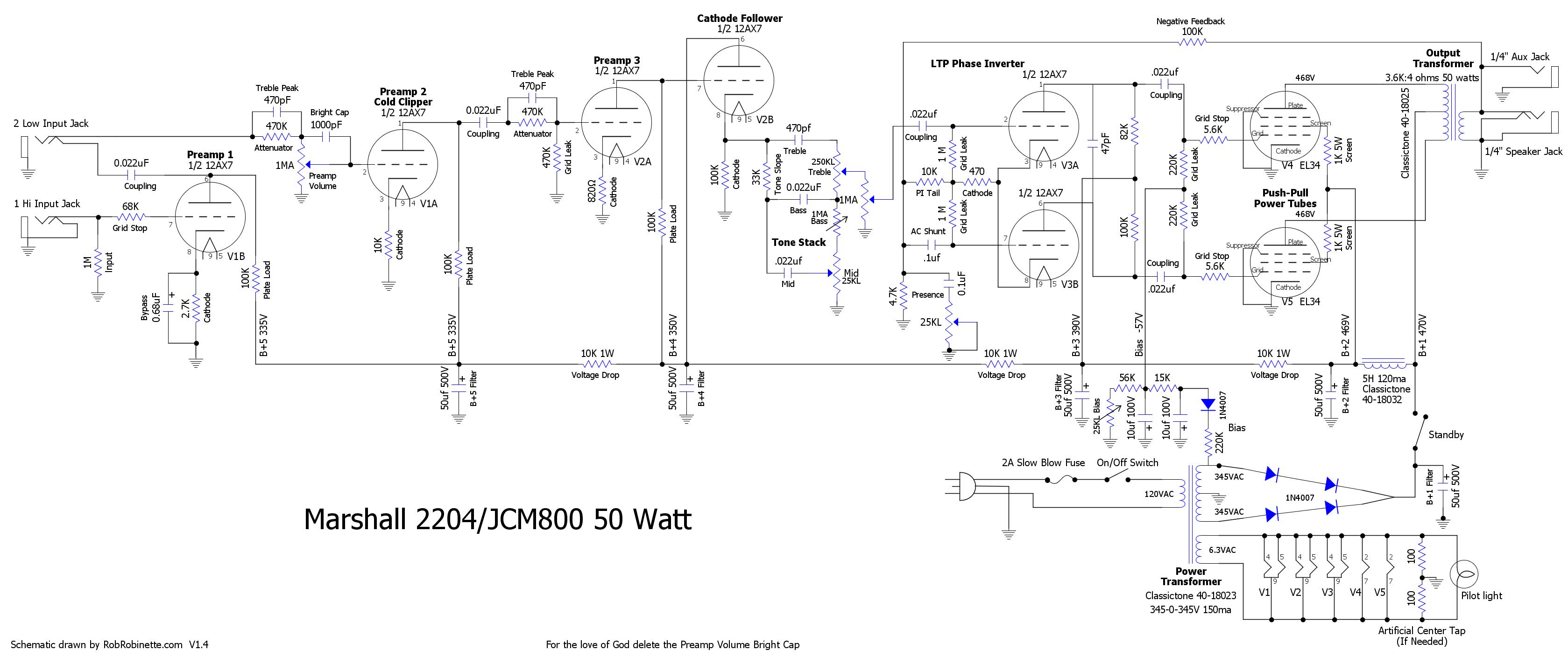 JCM800_Schematic_DIYLC Jcm Schematic on chandler tube driver schematic, pignose schematic, marshall schematic, 12ax7 overdrive schematic, jmp 50 schematic, ocd schematic, guitar schematic, rickenbacker 4003 schematic, bsiab schematic, hiwatt schematic, laney vc30 schematic, speaker schematic, champ schematic, ac30 schematic, jtm45 schematic, orange rockerverb schematic, orange th30 schematic, silver tone 1483 schematic, vox schematic,