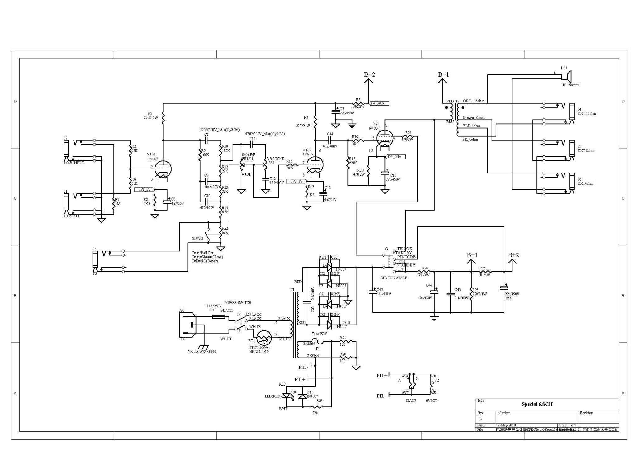Special_6_Schematic vht mods Pots Telephone Wiring Diagram at soozxer.org