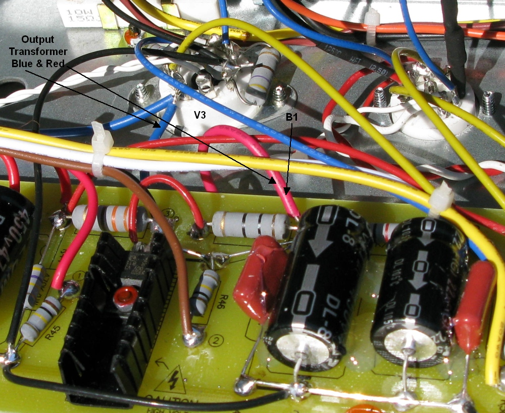 Vht Mods Wiring A Circuit Board And Come Out To Connect The Blue Wire Output Tube V3 Red B1 On Simply Unsolder Swap