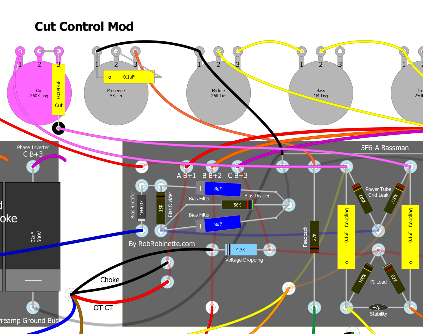 Amp Mods Framus Guitar Wiring Diagram Cut Control On 5f6a Bassman