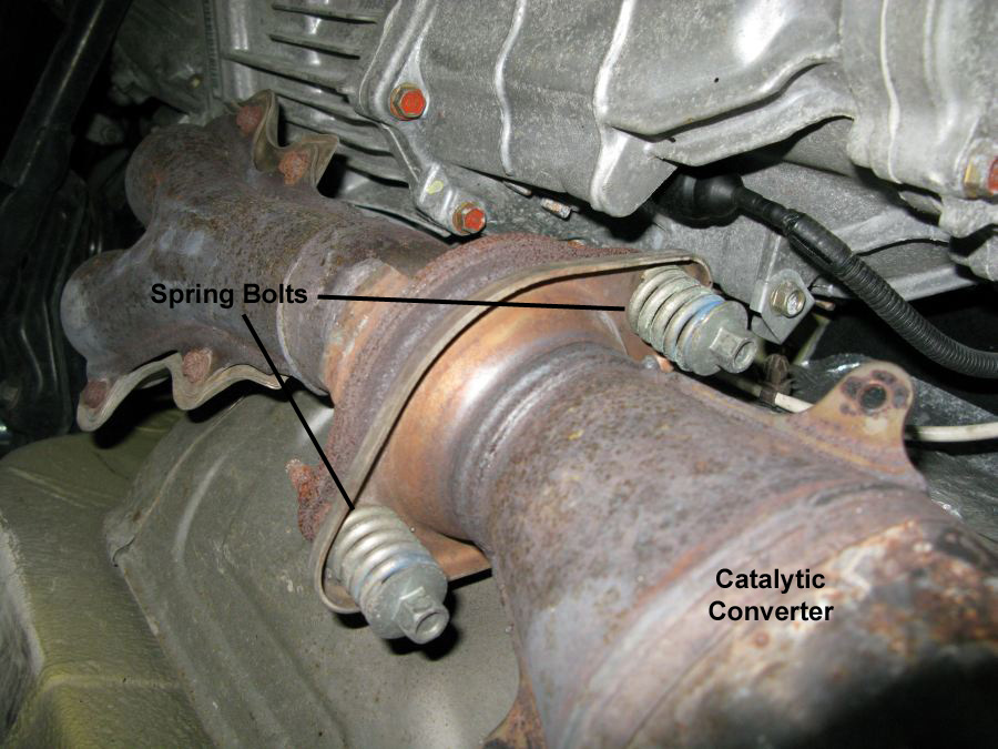 I Used The Breaker Bar To Break Loose All Five Of Cat's Fasteners You'll Need A 12mm Deep Socket For One End Spring Bolts Pictured Below: Catalytic Converter Bolts At Woreks.co
