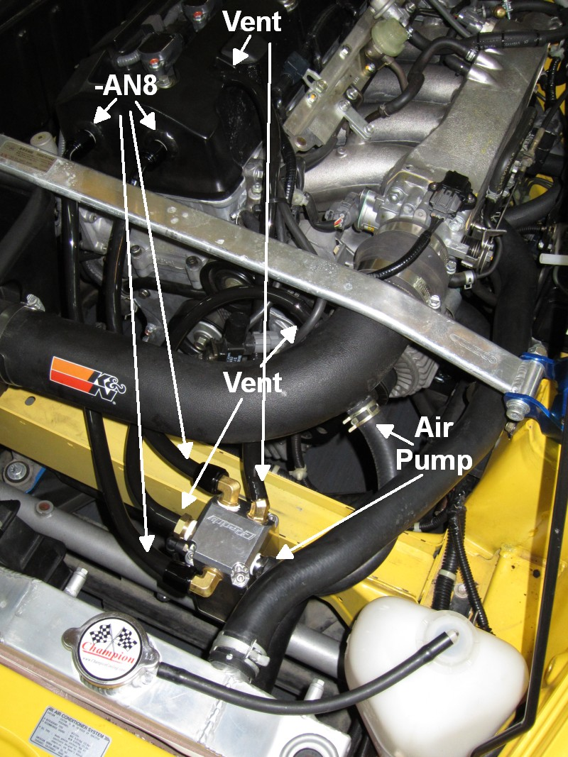Vwvortex how to install a catch can the correct way the valve cover vent uses 12 inch inside diameter hose the air pump line uses 34 inch inside diameter hose the catch can came with two 38 inch national sciox Choice Image