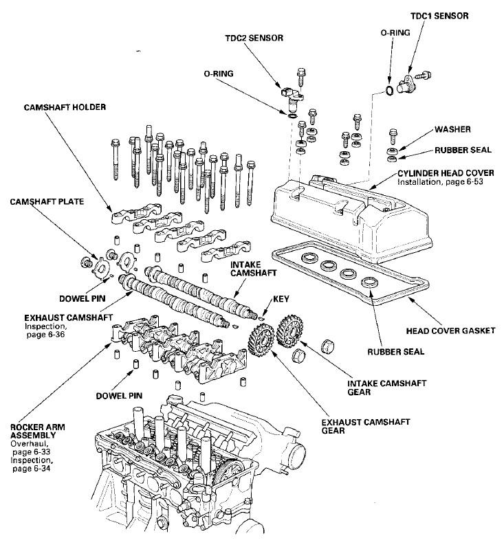honda crv 2003 engine diagram