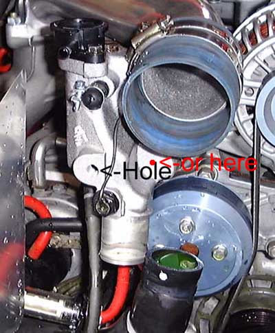 Perfect If You Donu0027t Want To Drill Into Your Thermostat Housing To Install The  Temperature Probe, You Can Install The Probe Into The Throttle Body Coolant  Lines By ...
