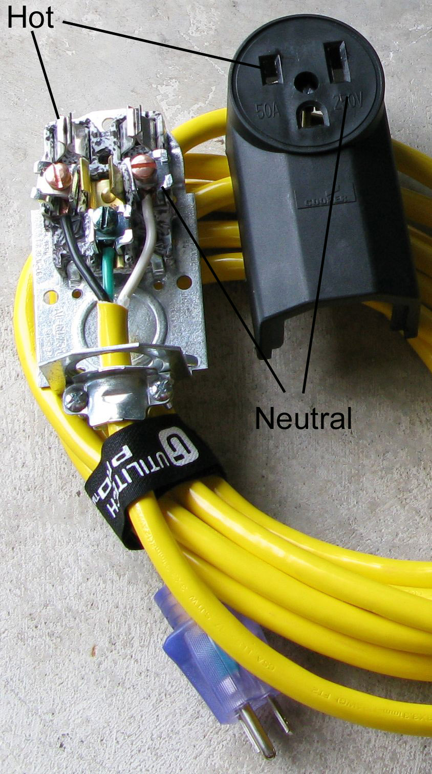 wiring diagram for 220 4 wire plug